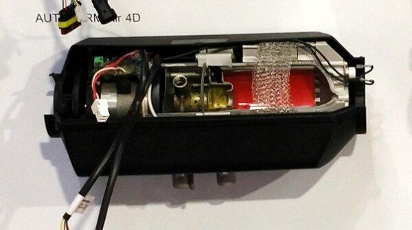 Autoterm Air 4D - Längsschnitt mit Ständer