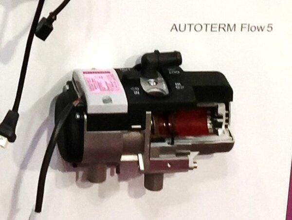 Autoterm Flow 5D - Längsschnitt mit Ständer