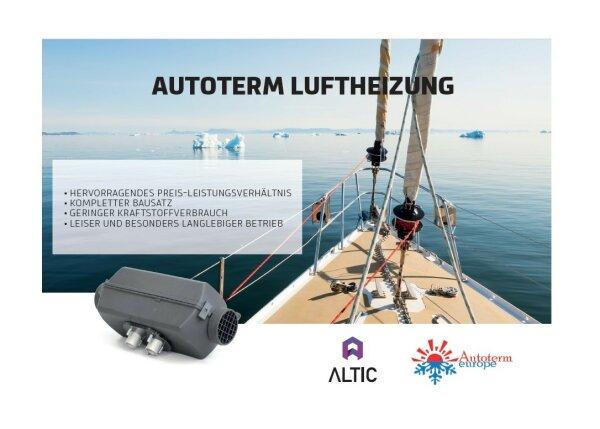 Autoterm Standheizung Flyer DIN A5, Motiv: Segelyacht