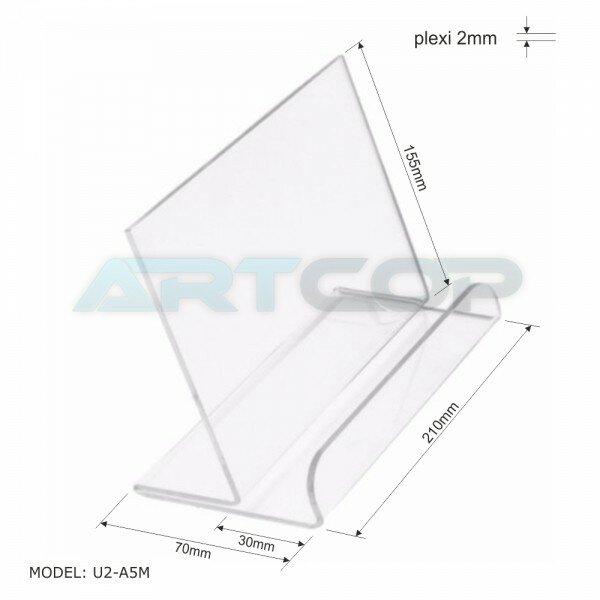 Flyerhalter DIN A5, plexiglas 2mm
